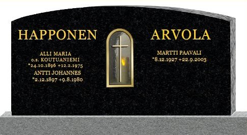 Tombstone design Happonen Arvola